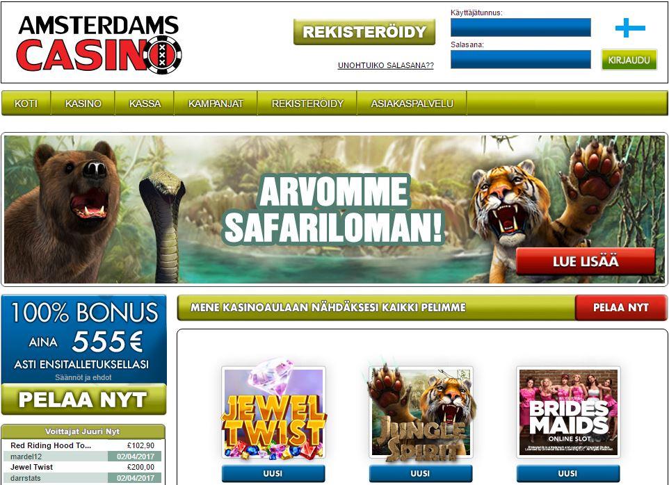 Amsterdam Casinolla on monipuolinen pelivalikoima sekä huikeat bonukset!